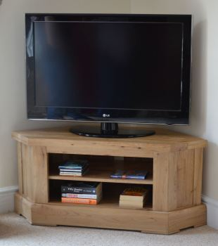Hampton Abbey Oak Corner TV Unit