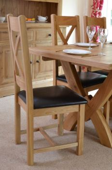 Hampton Abbey Oak Cross Back Chair