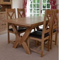 Hampton Abbey Oak 1.45m Extending Table