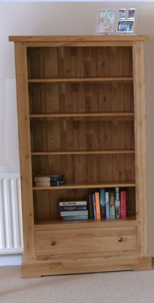 Hampton Abbey Tall Wide Bookcase with Drawer