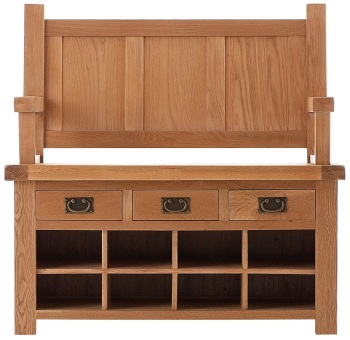 Heritage Oak Monks Bench