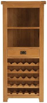 Heritage Oak Wine Cabinet
