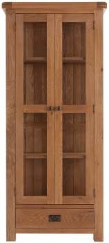 Heritage Oak Display Cabinet