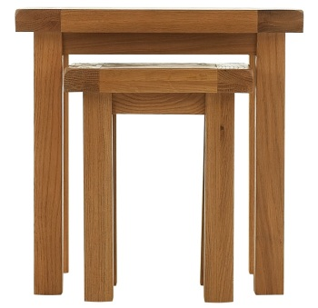 Heritage Oak Nest of 2 Tables