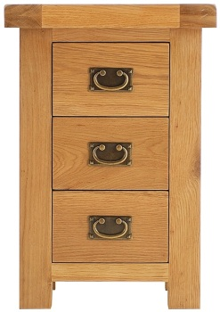 Heritage Oak Large 3 Drawer Bedside