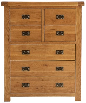 Heritage Oak 4 Over 3 Chest