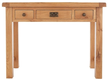 Heritage Oak 3 Drawer Dressing Table