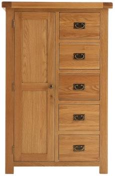 Heritage Oak Combi Wardrobe
