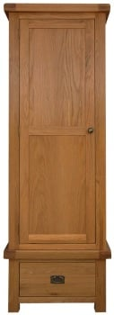 Heritage Oak Single Wardrobe