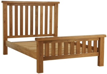 "Heritage Oak 4'6"" Bed"