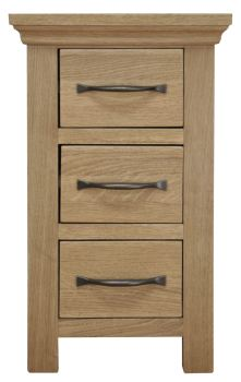 Woodbridge Small 3 Drawer Bedside