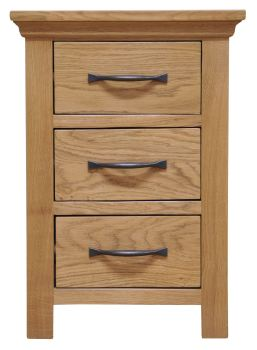 Woodbridge Large 3 Drawer Bedside