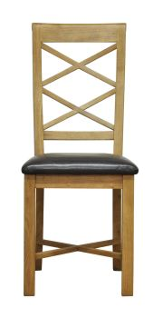 Woodbridge Double Cross Back Chair with PU Seat