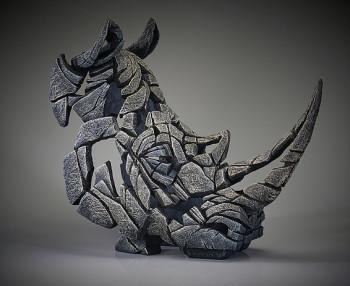 Rhinoceros Bust (White)