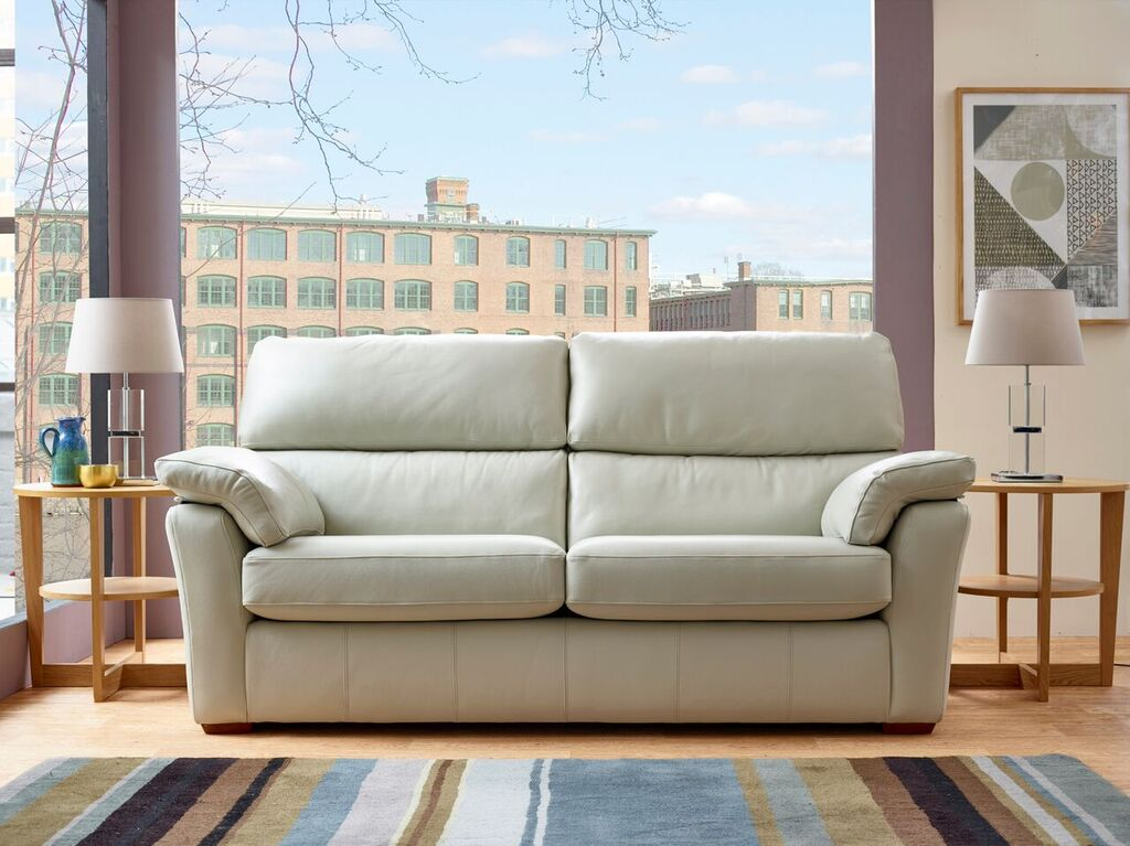 Henley 3 Seater High Back Leather Sofa