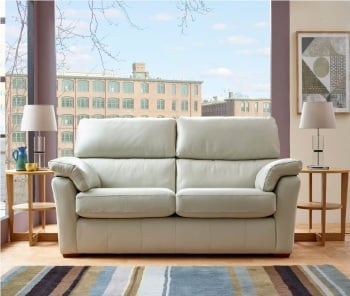 Henley 2 Seater Leather High Back Sofa