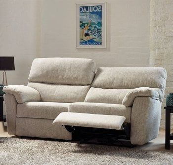 Hamilton 2 Seater High Back Leather Sofa with Manual Recliner