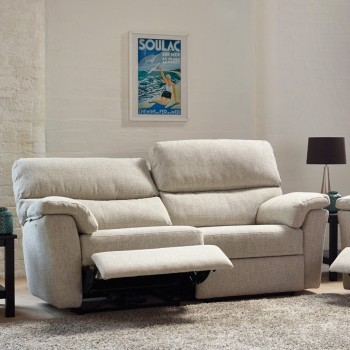 Henley 2 Seater High Back Leather Sofa with Power Recliner
