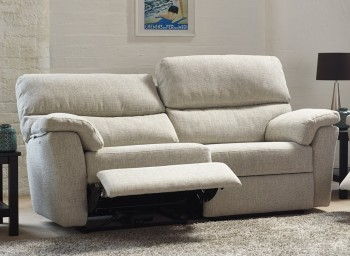 Henley 3 Seater High Back Leather Sofa with Power Recliner