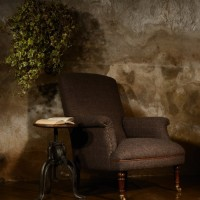 Harris Tweed Dalmore High Back Chair