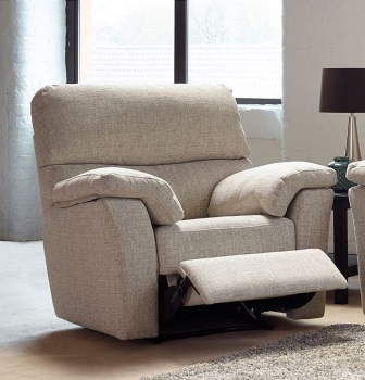 Hamilton Leather Chair with Manual Recliner