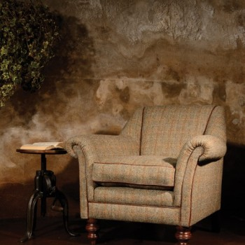 Harris Tweed Dalmore Accent Chair A - Fabric
