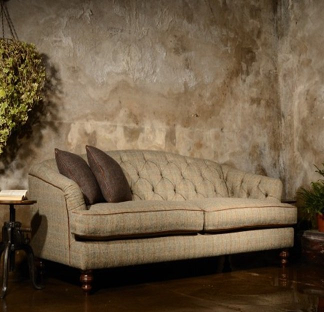 Harris Tweed Dalmore Petite Sofa A Fabric