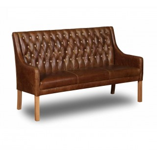 Melbury 3 Seater Italian Leather Bench