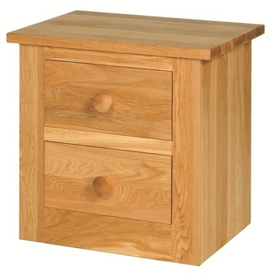 Quercus Large 2 Drawer Bedside