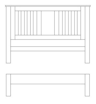 Quercus Double Slat Bed - Low Foot End
