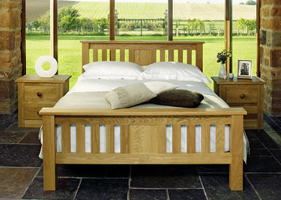 Quercus King-Size Slat Bed - High Foot End