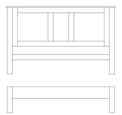 Quercus King-Size Panel Bed - Low Foot End