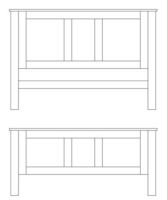 Quercus Double Panel Bed - High Foot End