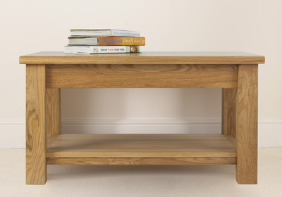 Quercus 3-2 Straight Leg Coffee Table with Shelf