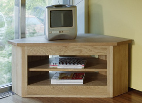 Quercus Small Open Corner TV Unit