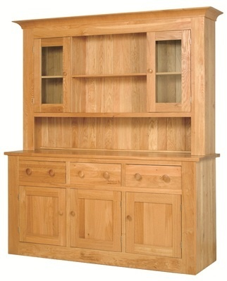 Quercus Large 3 Bay Dresser Base with Glazed Top