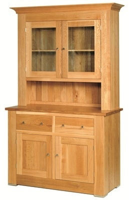 Quercus Large 2 Bay Dresser Base with Glazed Top
