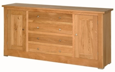 Quercus 1.8 Centre Drawer Sideboard