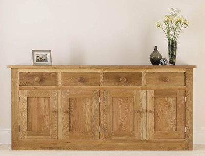 Quercus Small 4 Bay Dresser Base