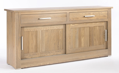 Quercus 1.8 2 Drawer Sliding Door Sideboard