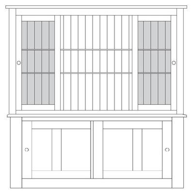Quercus 1.8 Drawer Sliding Door Sideboard with Sliding Door Top