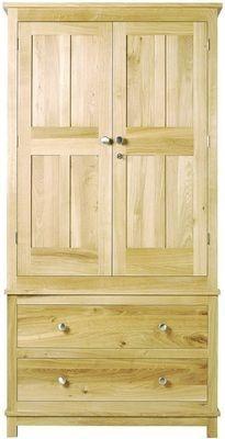 Arundel Oak Two Drawer Wardrobe