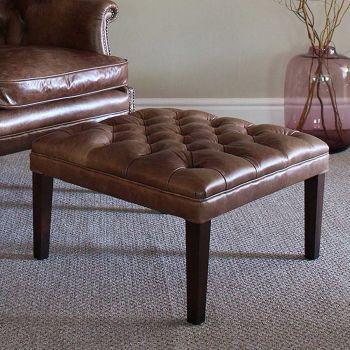 Harris Tweed MacKenzie Stool H - All Leather