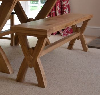 Hampton Abbey Oak 1.45m Bench