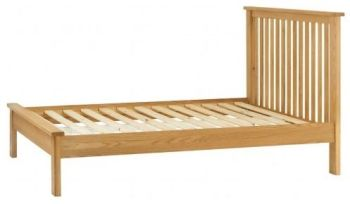 "Purbeck Oak 4'6"" Double Bed"