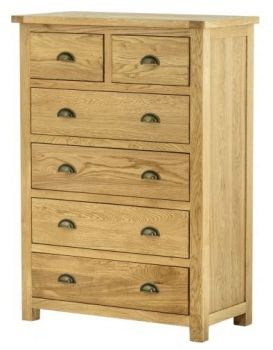 Purbeck Oak 2 Over 4 Chest