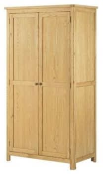 Purbeck Oak Wardrobe - 2 Door All Hanging