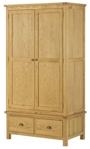 Purbeck Oak 2 Door 2 Drawer Wardrobe