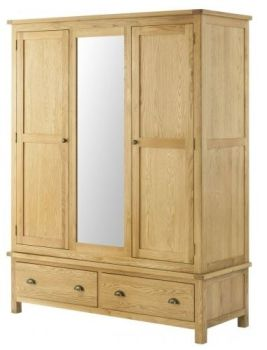 Purbeck Oak Wardrobe - Triple