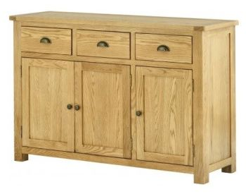 Purbeck Oak Sideboard - 3 Doors